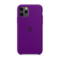 Накладка Silicone Case Full iPhone 11 Pro Max purple (34)