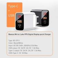 СЗУ Baseus Mirror Lake PPS Digital Display QC 3.0 A+C EU