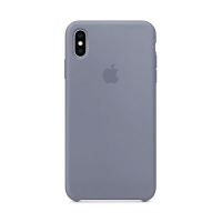 Накладка Silicone Case Full iPhone X, XS lavender gray (28)