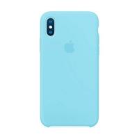 Накладка Silicone Case iPhone X, XS blue (16)