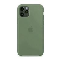 Накладка Silicone Case Full iPhone 11 Pro Max pine green (55)