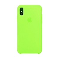 Накладка Silicone Case Full iPhone X, XS green (32)