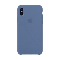 Накладка Silicone Case Full iPhone X, XS navy blue (20)