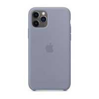 Накладка Silicone Case Full iPhone 11 lavender gray (28)
