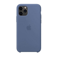 Накладка Silicone Case Full iPhone 11 navy blue (20)