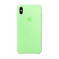 Накладка Silicone Case Full iPhone X, XS spearmint (47)