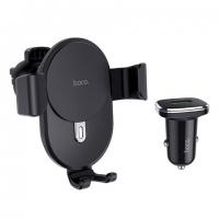 Автодержатель HOCO CW25 Delight wireless charging set