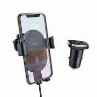 Автодержатель HOCO CW25 Delight wireless charging set