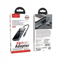 HOCO HB15 Easy Show Type-C adapter (Type-C to USB3.0*3+HDMI+PD)