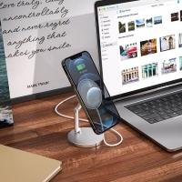 Держатель HOCO PH39 Daring magnetic wireless charging desktop stand